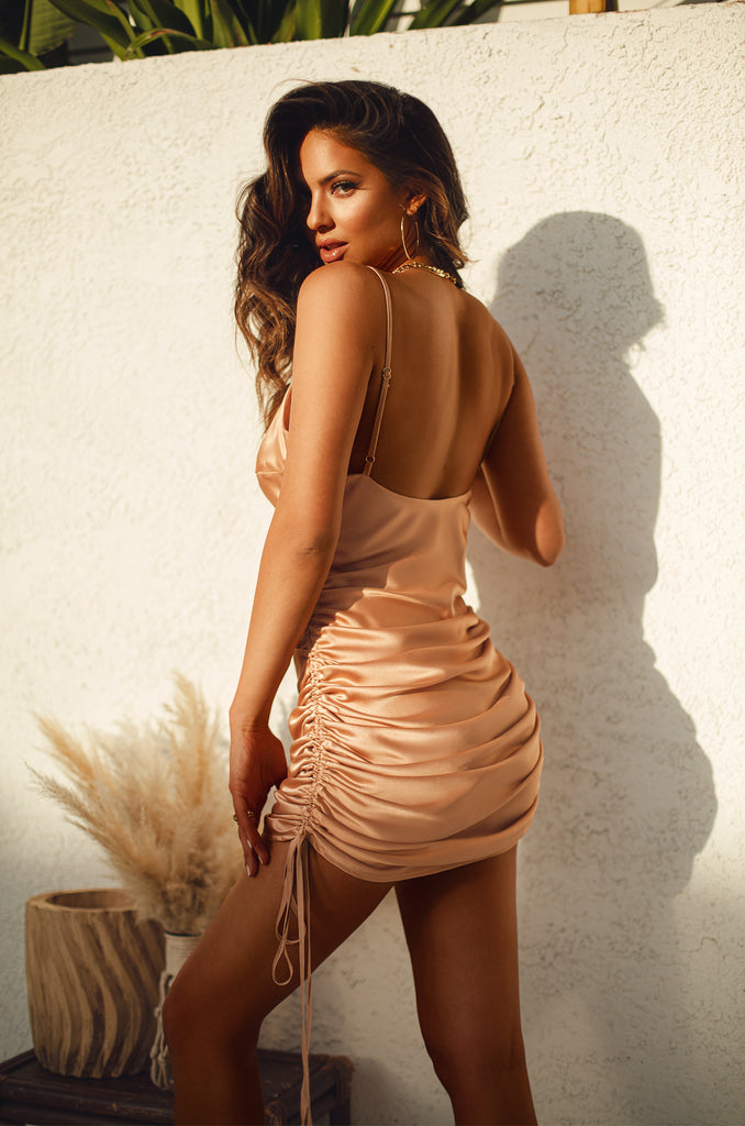 Trips To St. Barts Dress - Nude