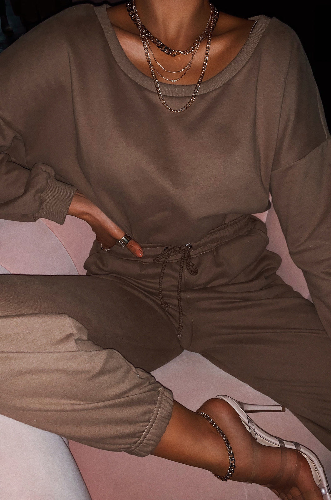 Dressed To Chill Sweat Pant - Mocha