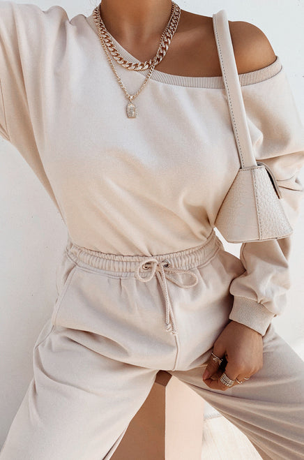 Dressed To Chill Sweater - Nude
