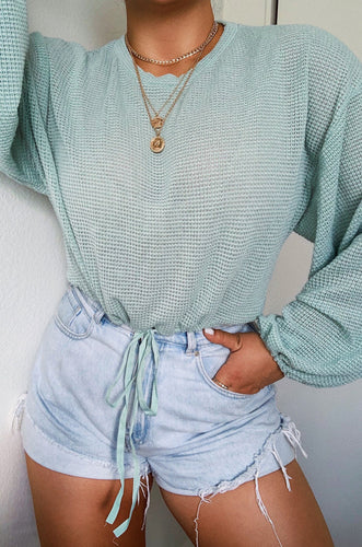 Easy Like Sunday Top - Mint