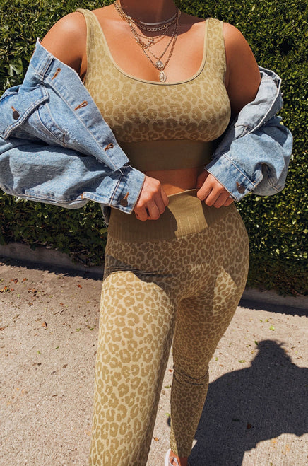 Power Moves Set - Olive Leopard