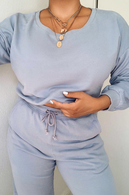 Dressed To Chill Jogger - Light Blue