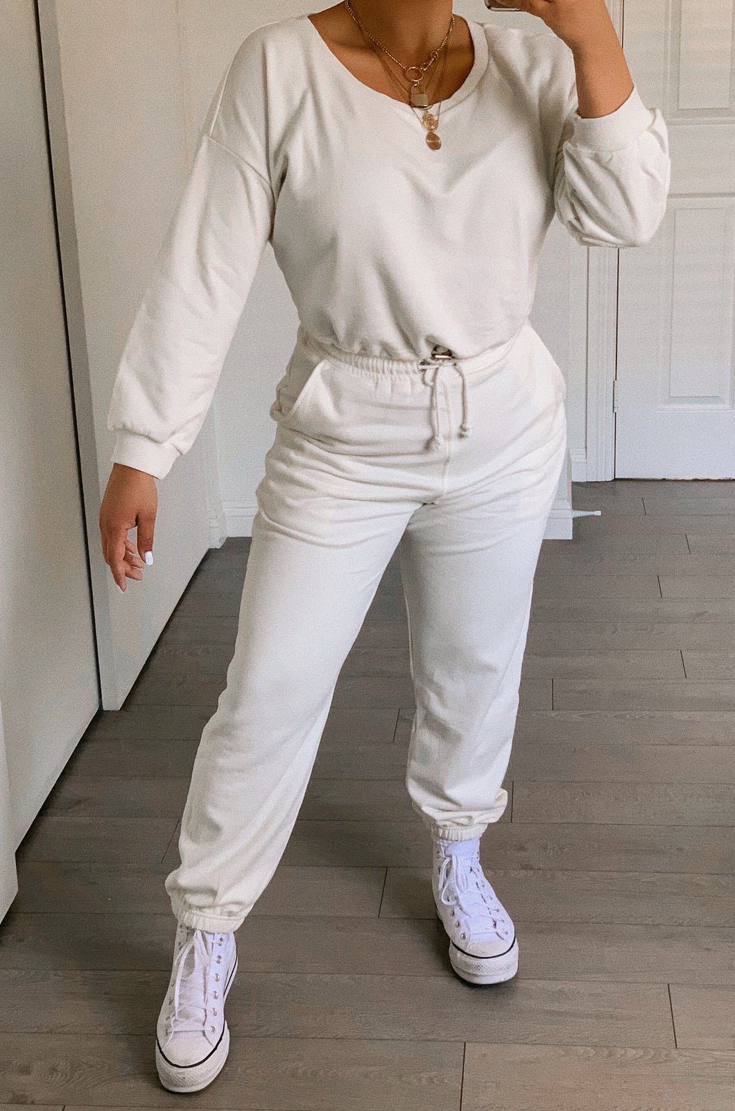 Dressed To Chill Jogger - White