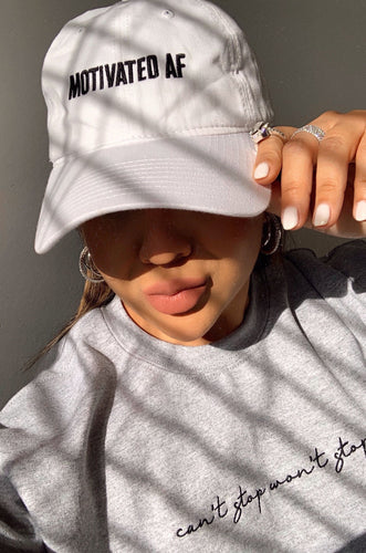 Motivated AF Hat - White