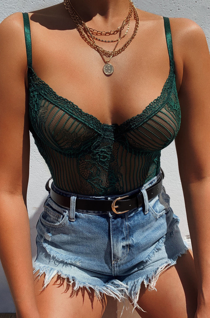 Transparent Lover Bodysuit - Emerald 5