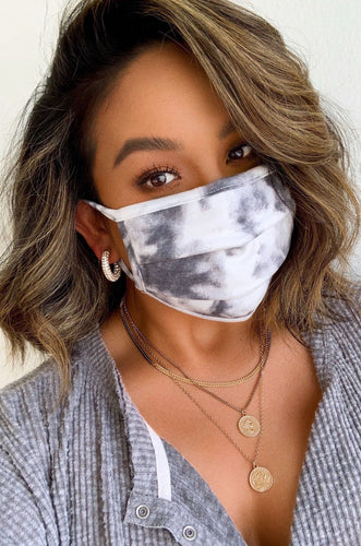 Essential Face Mask - Black Tie Dye
