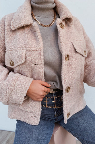 NYC Teddy Jacket - Nude