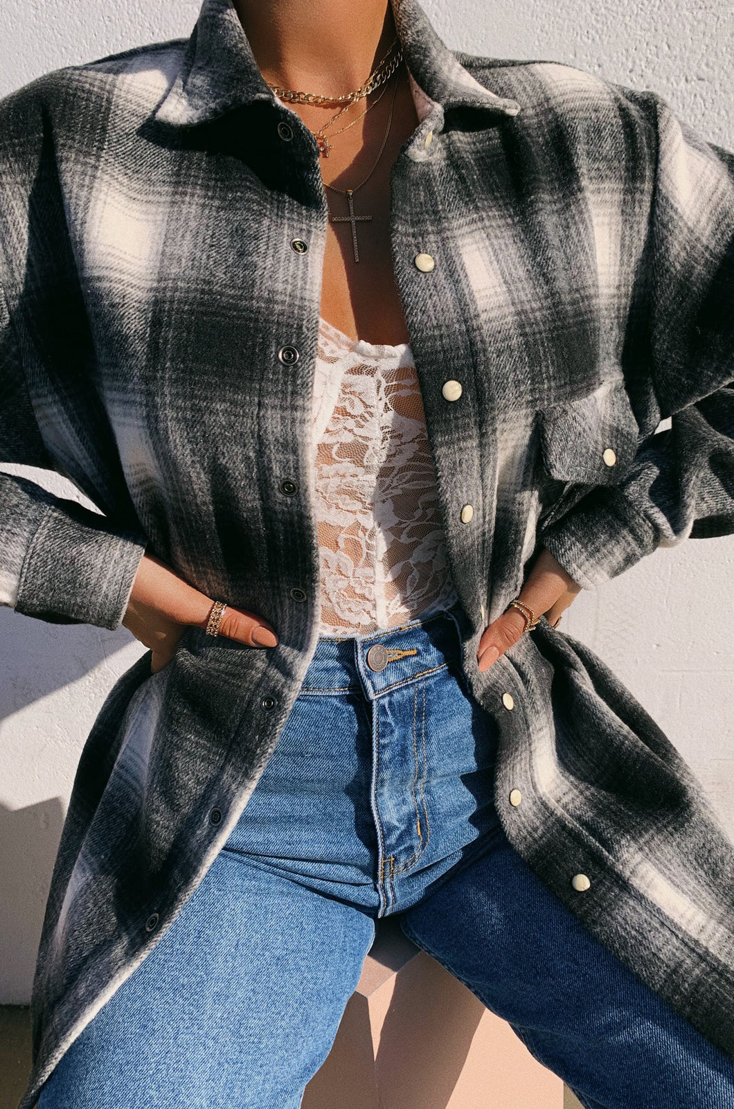 In My Feels Top - Plaid