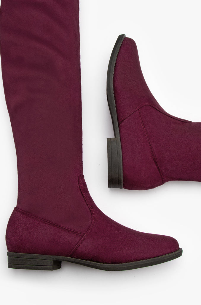 High Line - Wine Suede