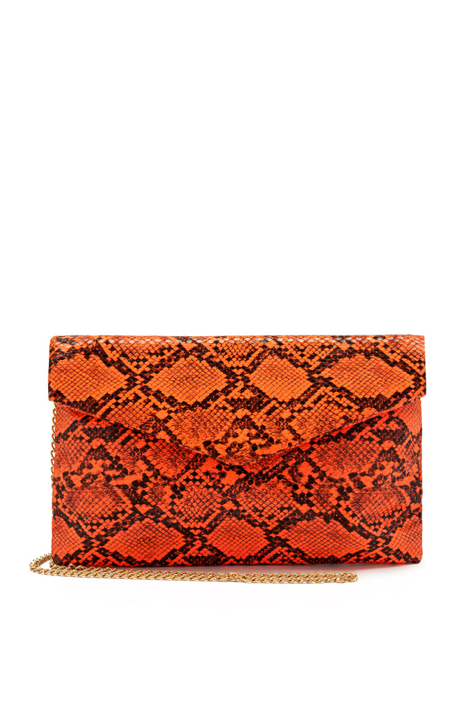 Not Too Nice Clutch - Neon Orange
