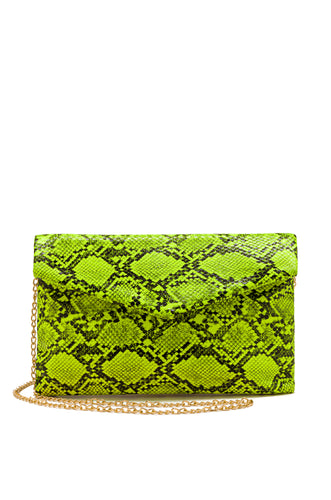 Not Too Nice Clutch - Neon Yellow