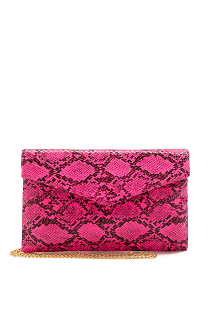 Not Too Nice Clutch - Neon Pink