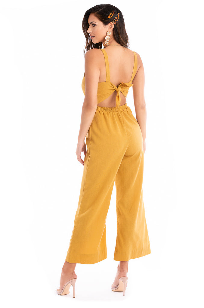 Like Honey Jumpsuit - Mustard