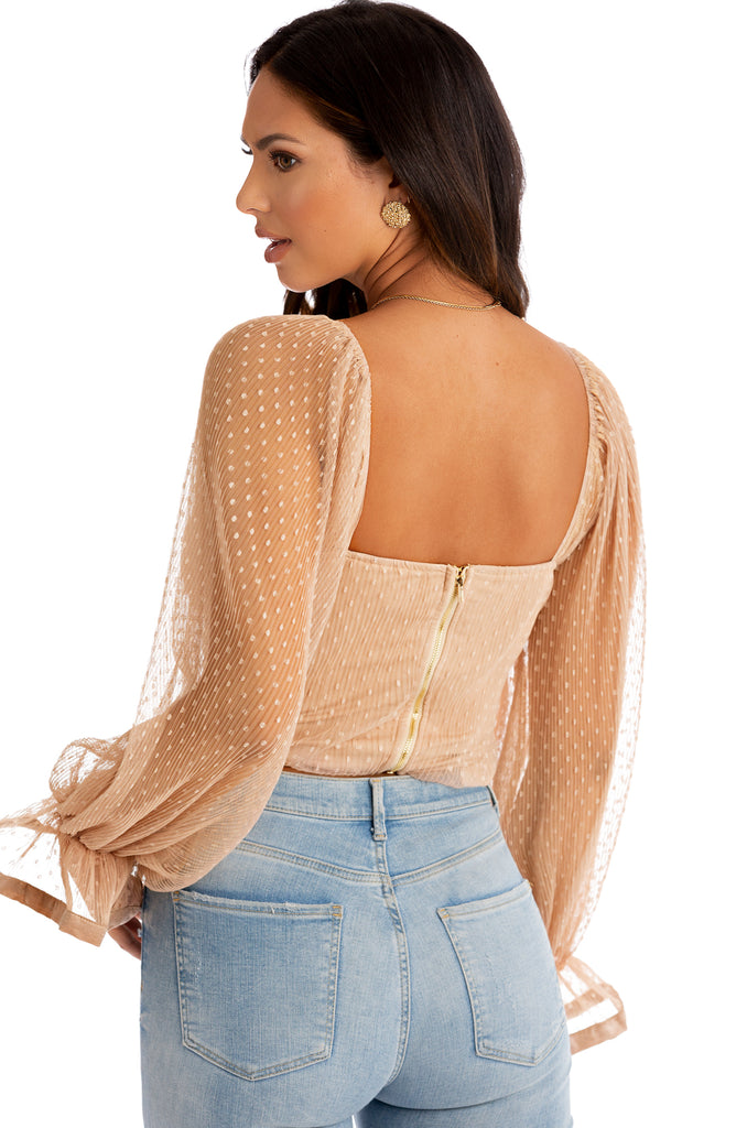 In My Dreams Top - Nude