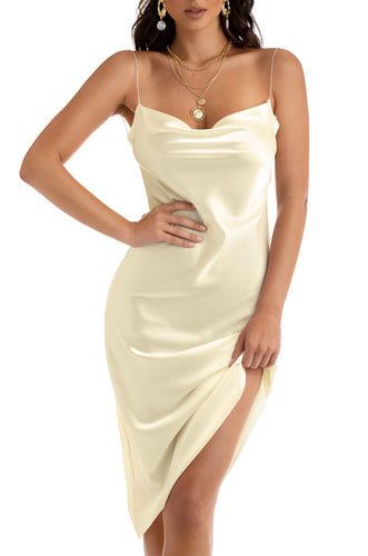 Sleek Seduction Dress - Ivory