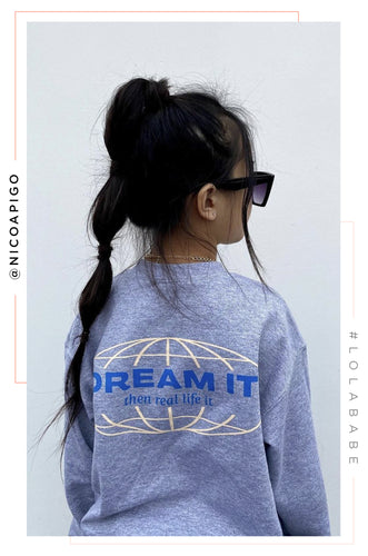 Mini Dream It Crewneck - Grey