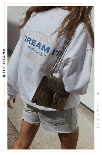 Dream It Crewneck - White