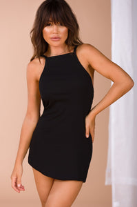 Casual Relationship Dress - Black