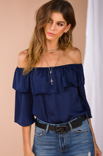 Off The Horizon Top - Navy