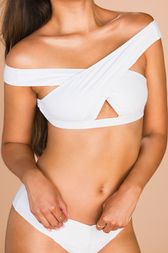 Chase The Chaos Swim Top - White