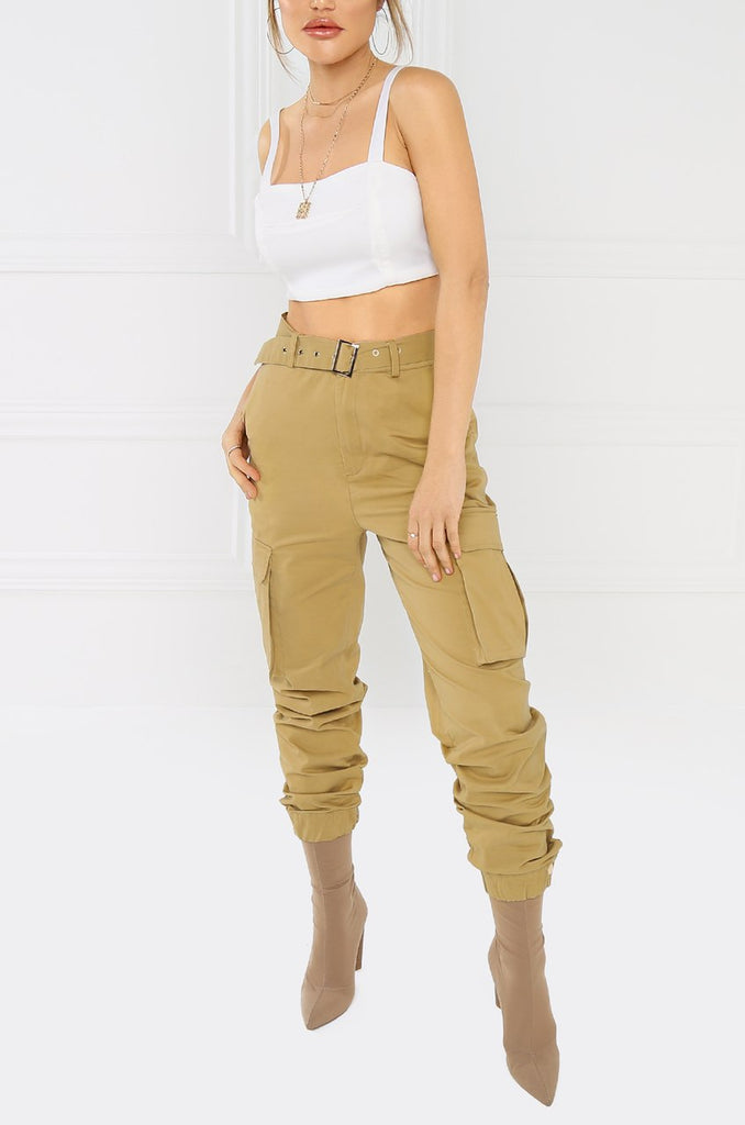 Take It Easy Cargo Pant - Nude