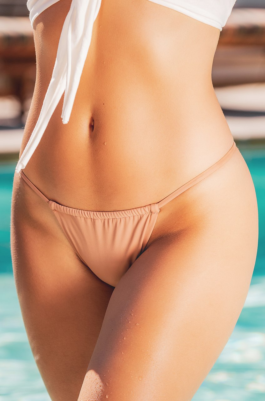 Nice Tan Swim Bottom - Rose