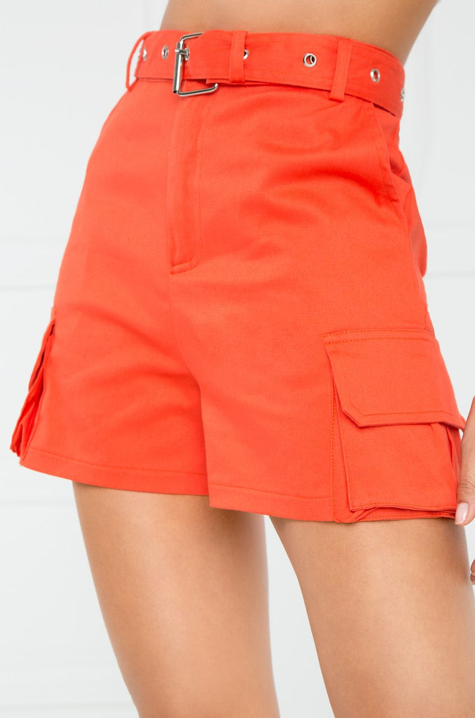 Play The Game Shorts - Orange