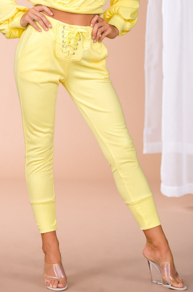 All-Star Crop Jogger Pant - Yellow