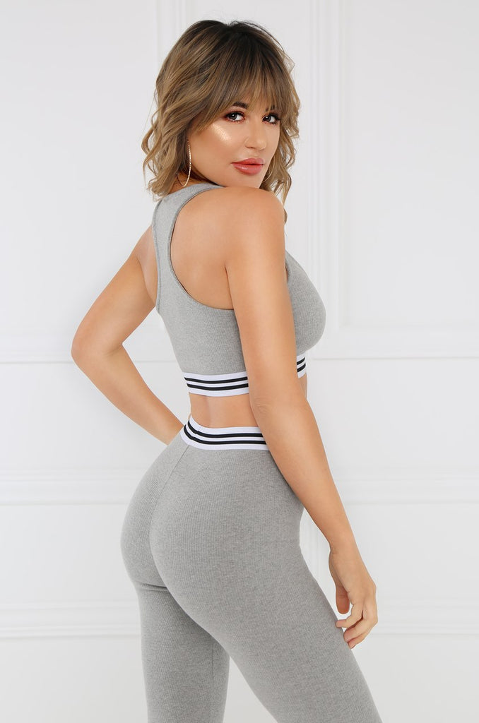 Killin' It Crop Top - Grey