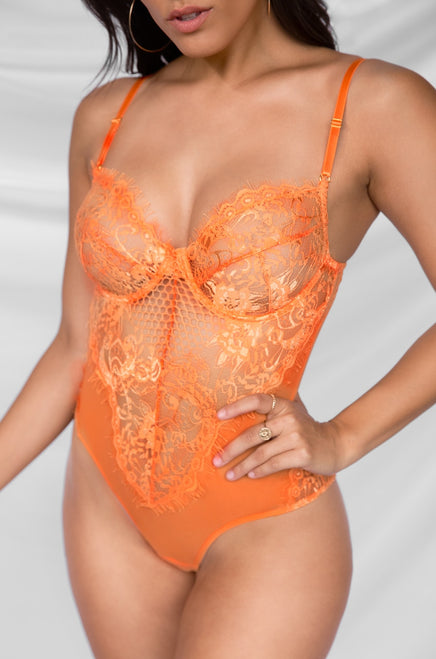 Risqué Bodysuit - Orange