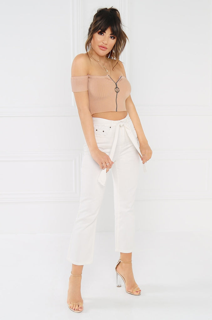 Strictly Sexy Crop Top - Nude