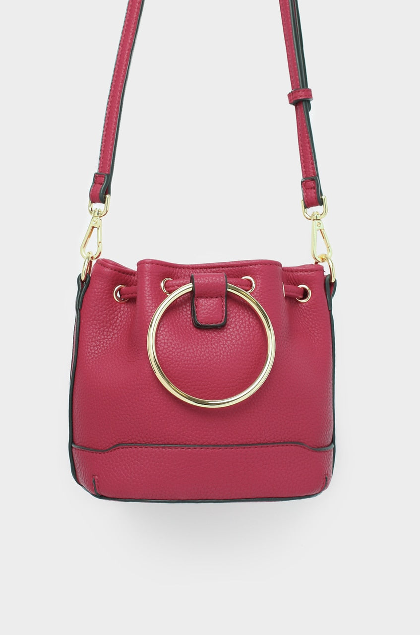 Monaco Bucket Bag Mini - Maroon