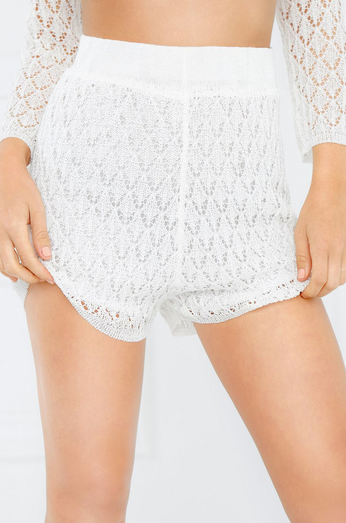 Savage Beauty Shorts - White