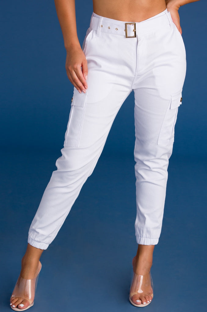 Knockout Cargo Pant - White