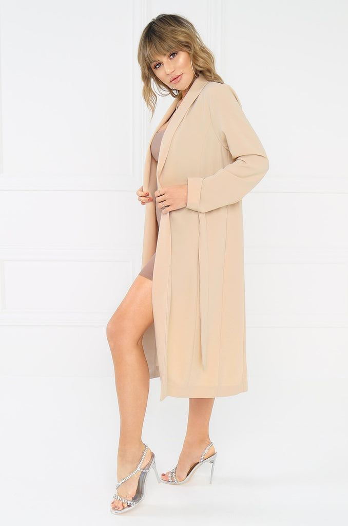 Jet Setter Trench - Nude