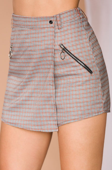 Cry Me a River Skort - Rust