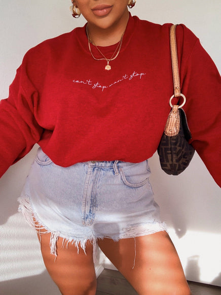 Can't Stop Won't Stop Crewneck - Red