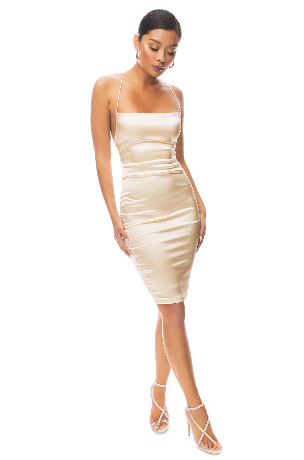 Sultry Nights Dress - Champagne