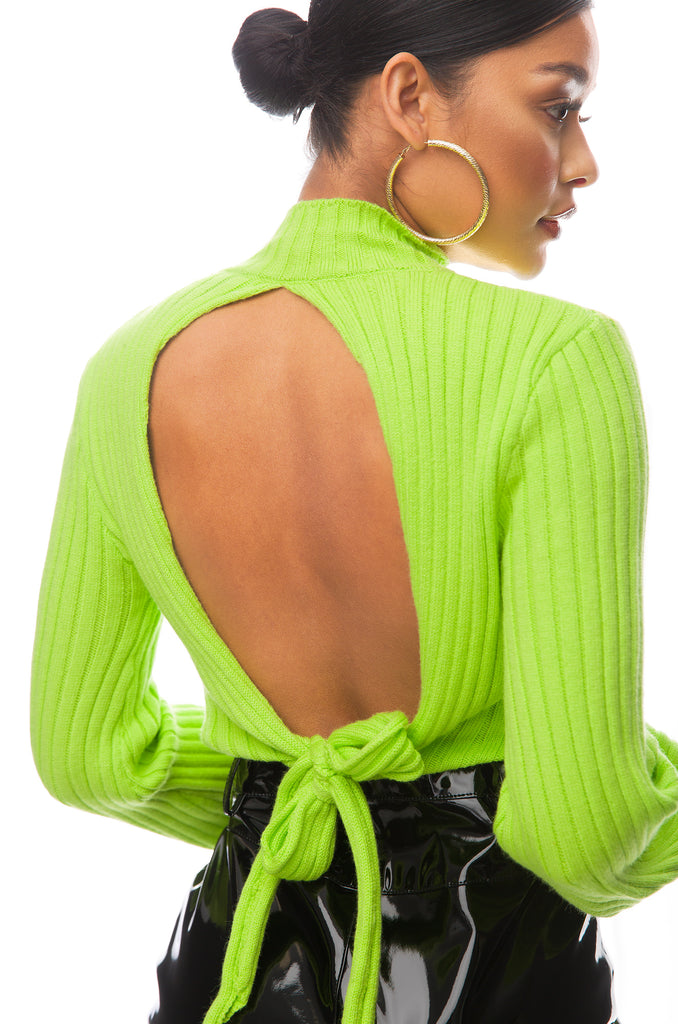 Love Me Knot Top - Lime Green