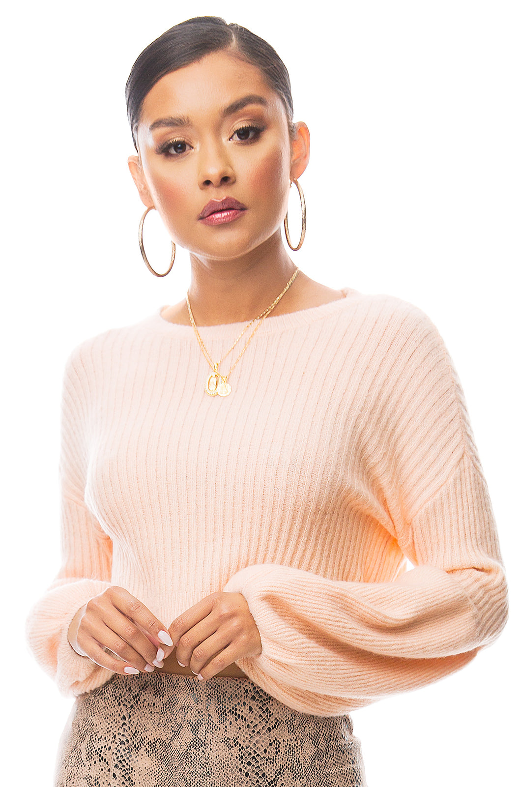 Sweet Gestures Sweater - Blush