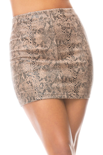 Pretty Predator Skirt - Snake