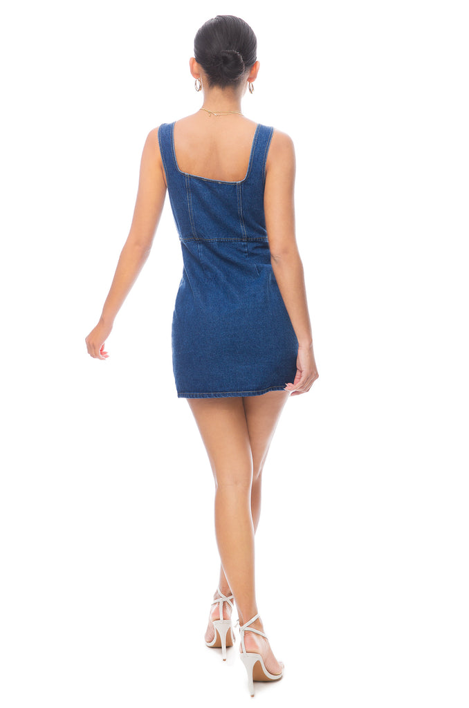 West Coast Babe Dress - Denim