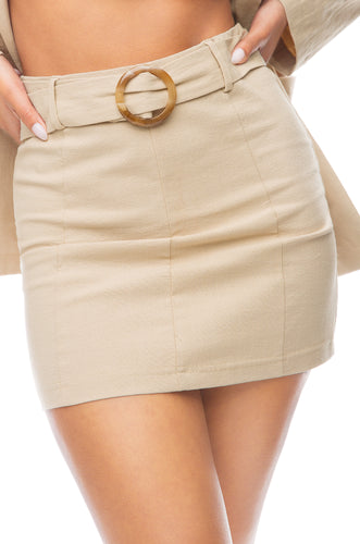 Summer In Tribeca Skirt - Nude