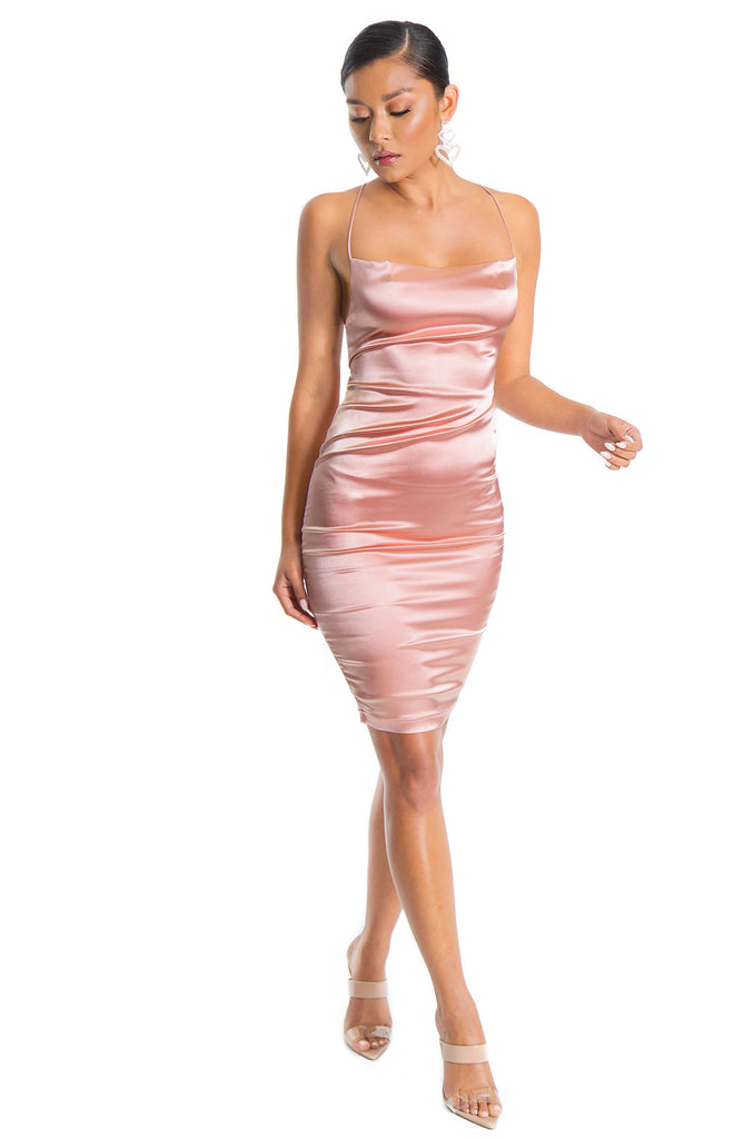 Sultry Nights Dress - Blush