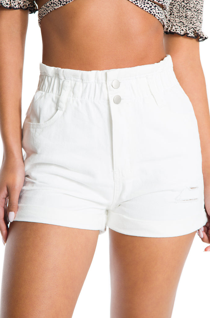 Blue Lagoon Shorts - White Denim