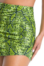 Total Tease Skirt - Neon Green Snake