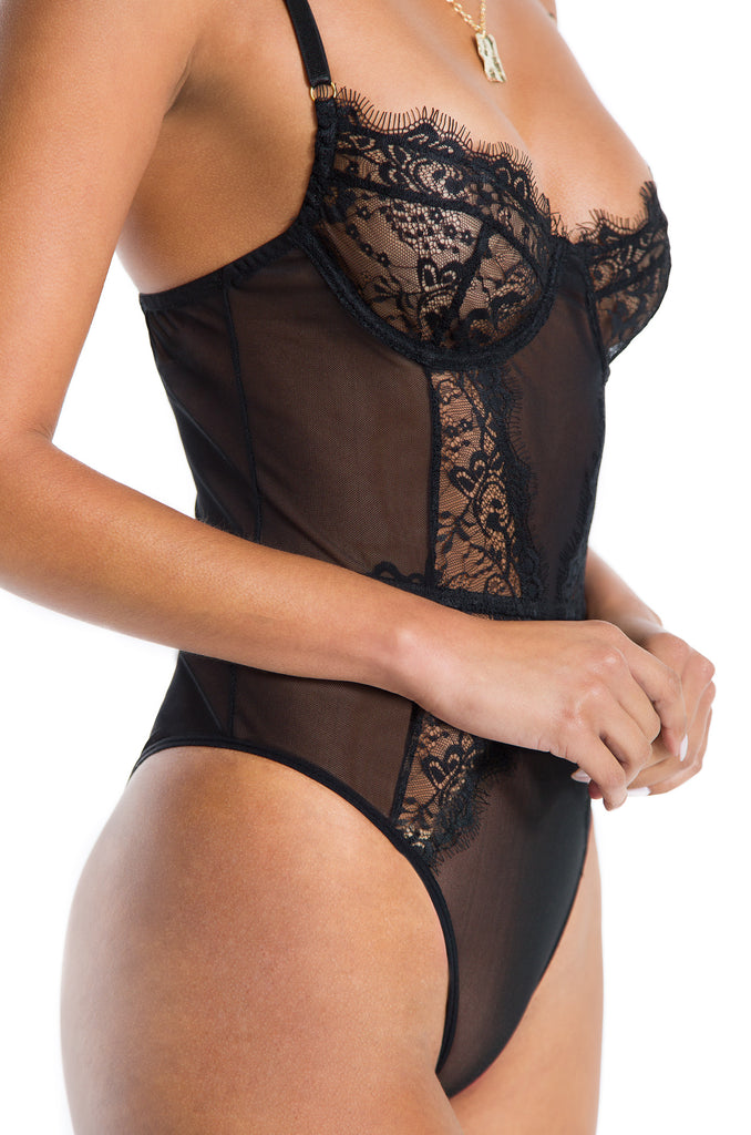 Seduce Me Bodysuit - Black