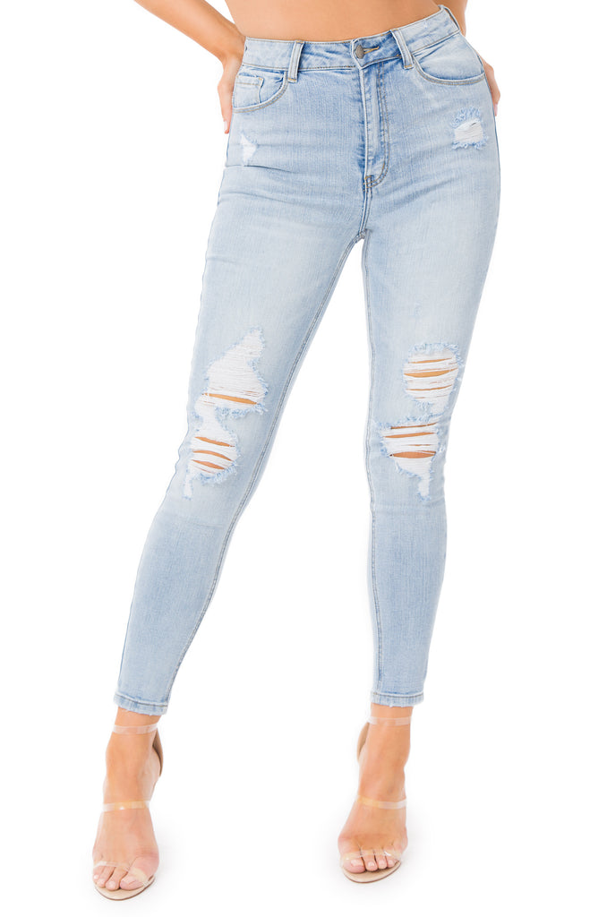 Look Back At It Jeans - Denim