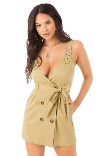 Business Meets Pleasure Dress - Tan