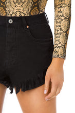 Haute Figure Short - Black Denim